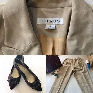 Chaise Vintage Business Pants Suit